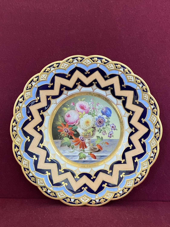 A fine Staffordshire Porcelain Cabinet Plate c.1850