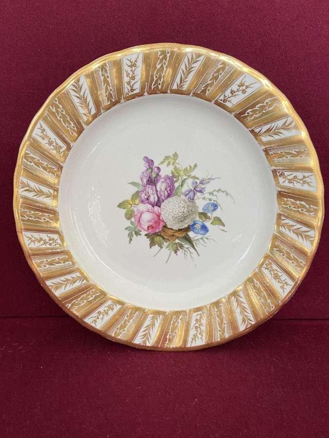 A fine Derby porcelain dessert plate c.1790-1800