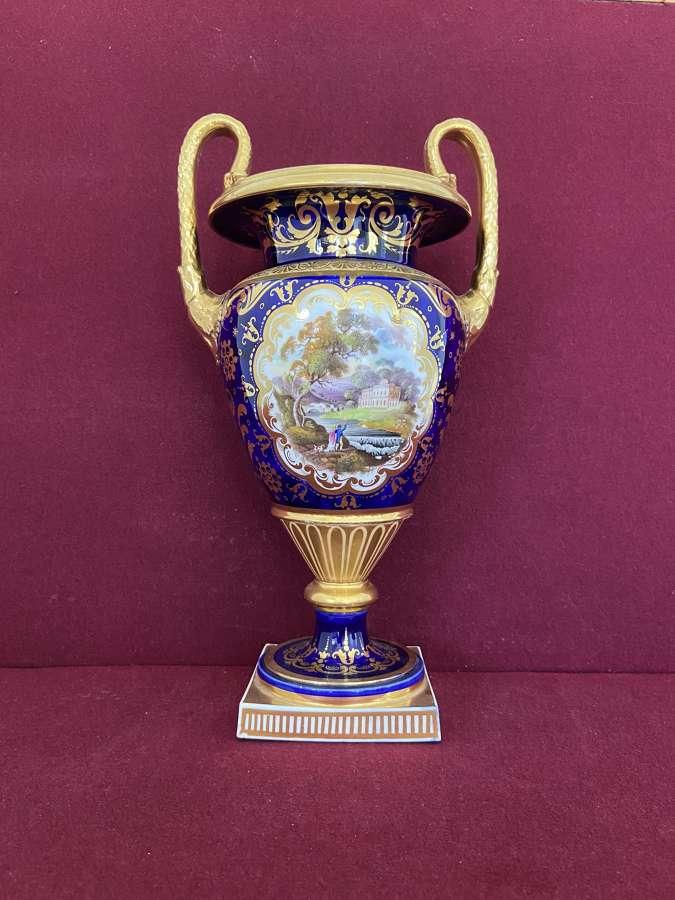A John & William Ridgway Porcelain Vase c.1820-1825