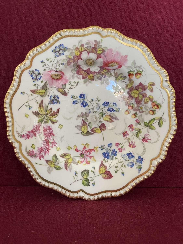 A fine H&R Daniel plate decorated by William Pollard