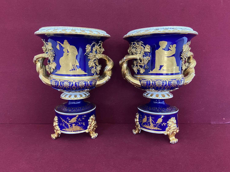 A pair of Derby Sideboard Vases c.1825