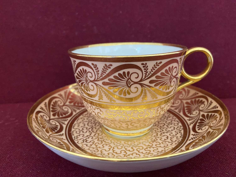 A Barr Flight Barr Worcester Teacup & Saucer c.1810