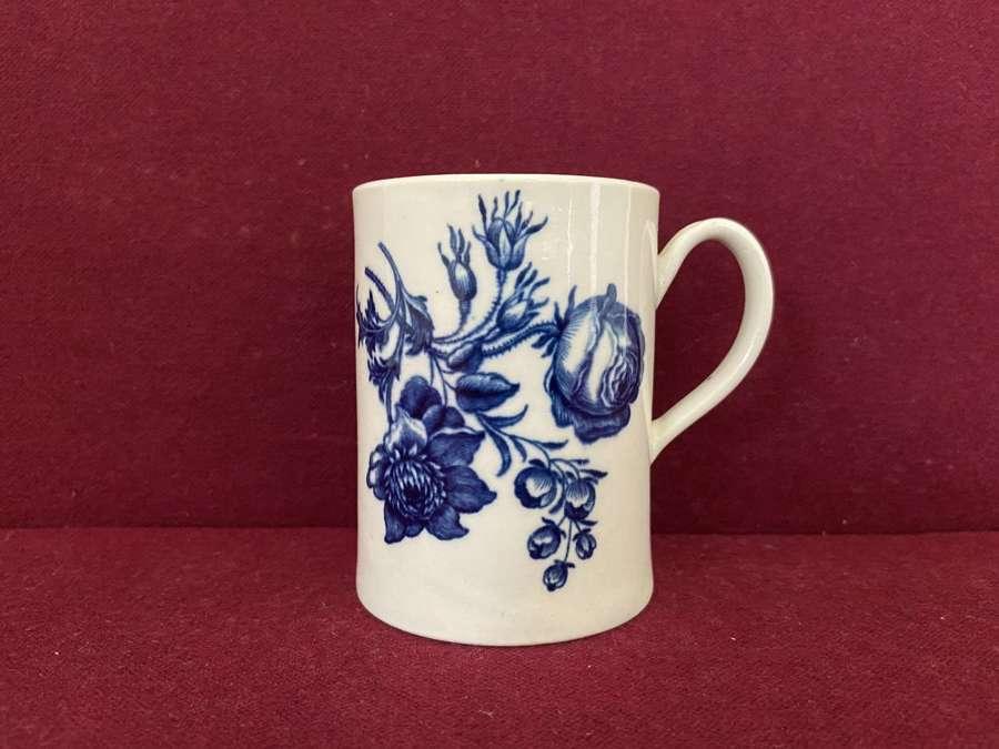 A 1st period Worcester Transfer Printed Mug c.1770-75