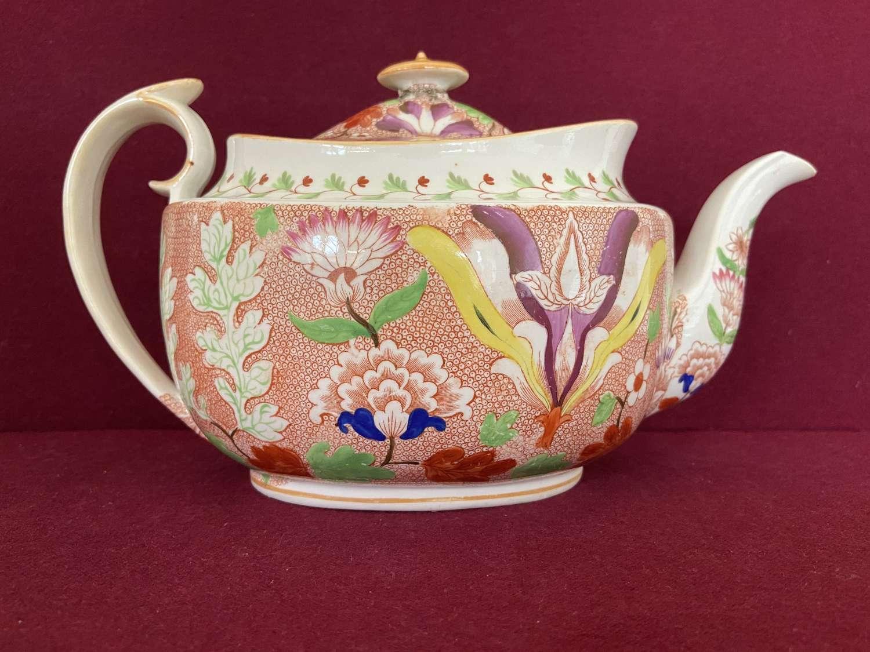 A Hicks & Meigh 'New Oval' Shape Teapot c.1810