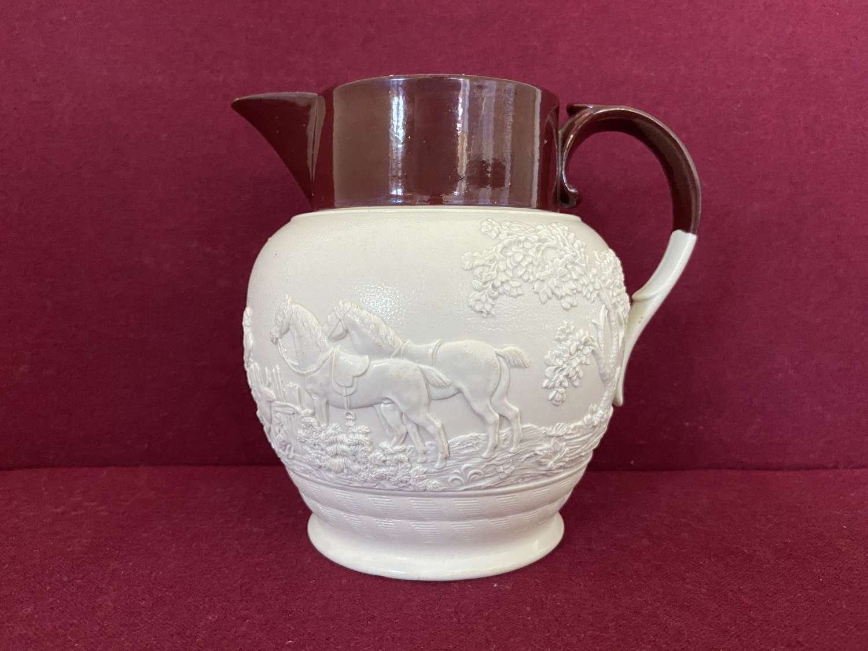 A Davenport Stoneware Hunting jug c.1815