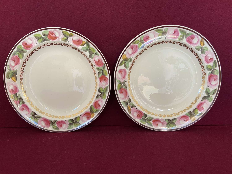 A pair of Creamware plates c.1800