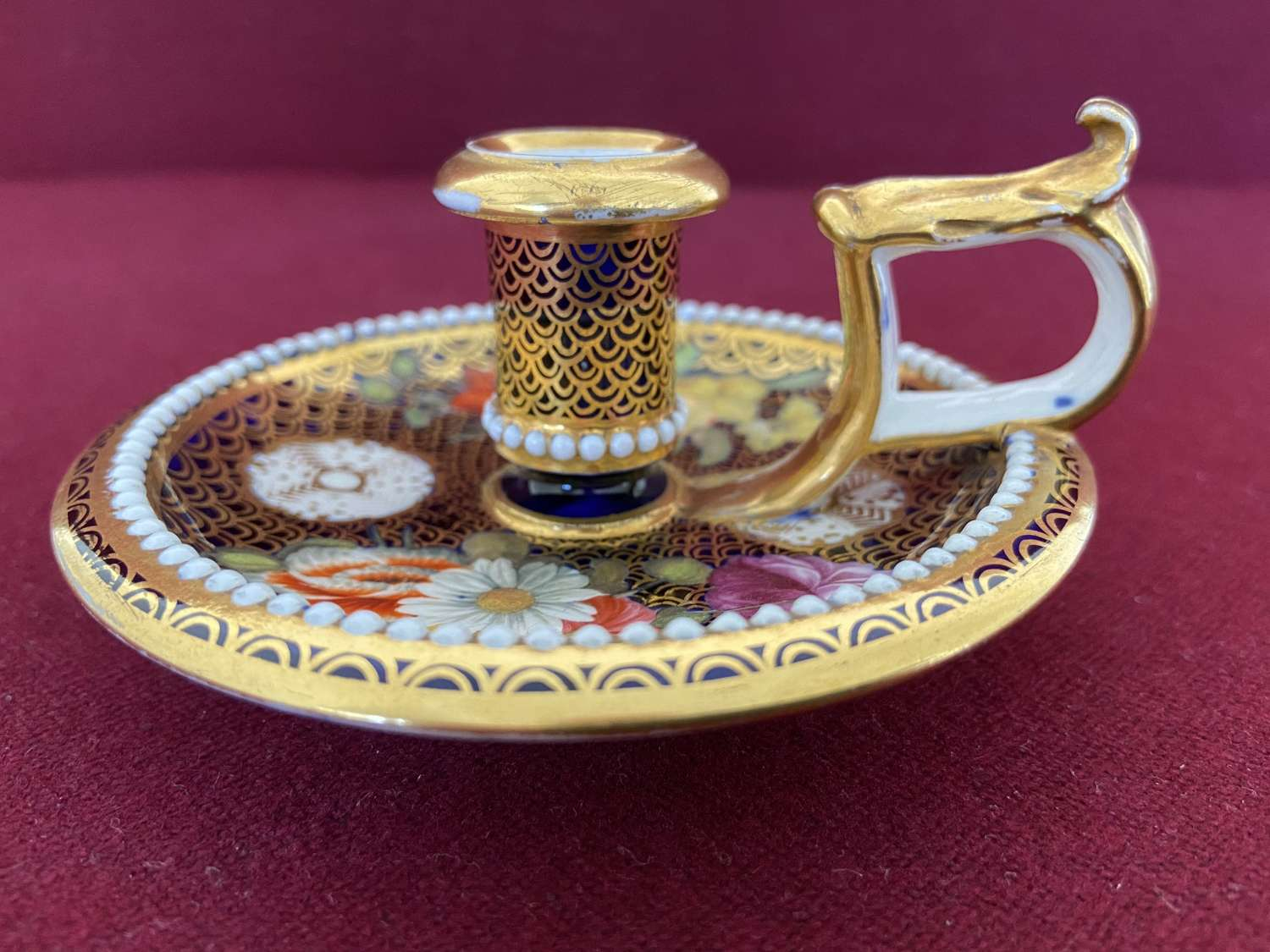 A Spode Candlestick c.1820 decorated in pattern 1166