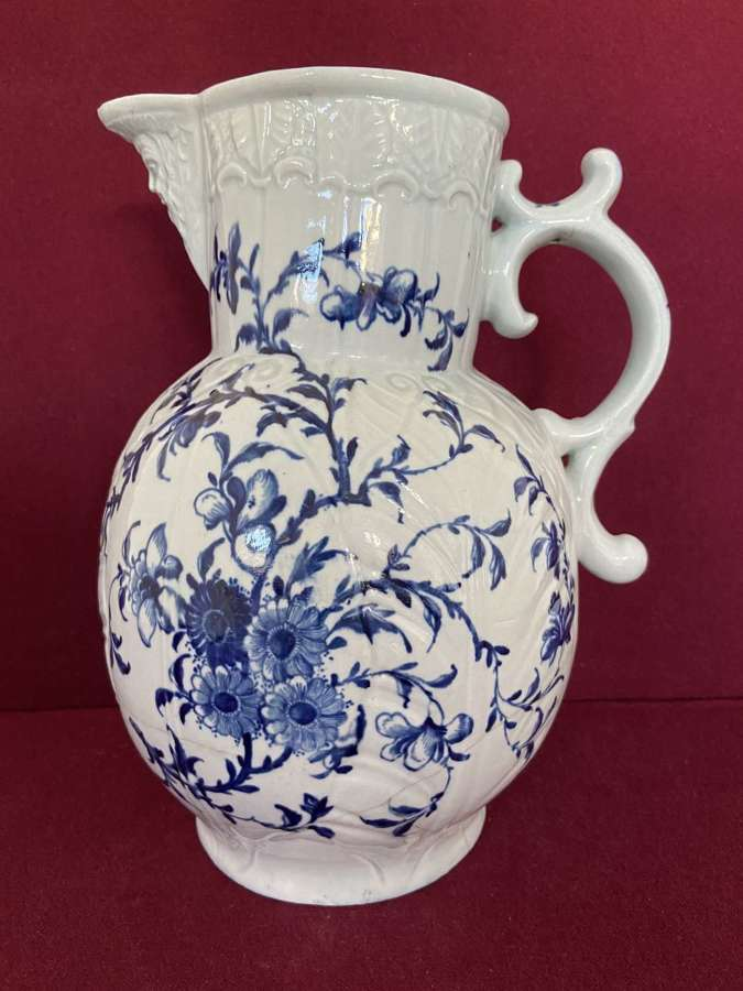 A rare and early Worcester Mask Jug c.1760