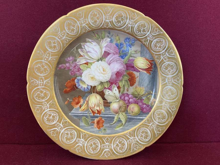 A fine Coalport cabinet plate c.1805-1810