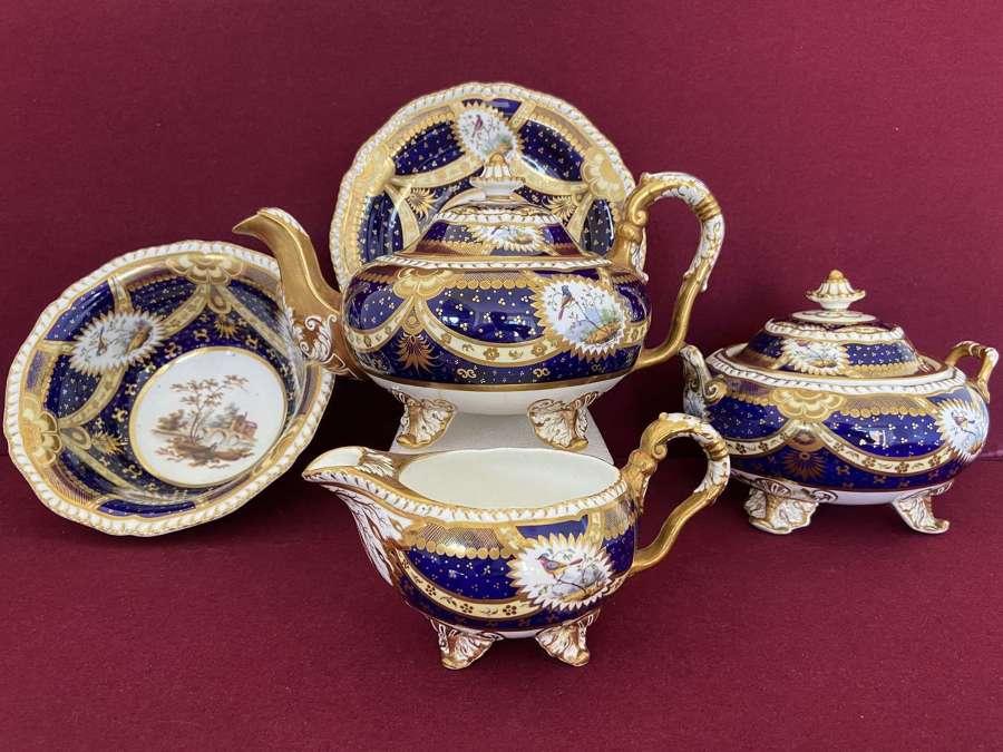 Representative pieces from a H &R Daniel tea service c.1826