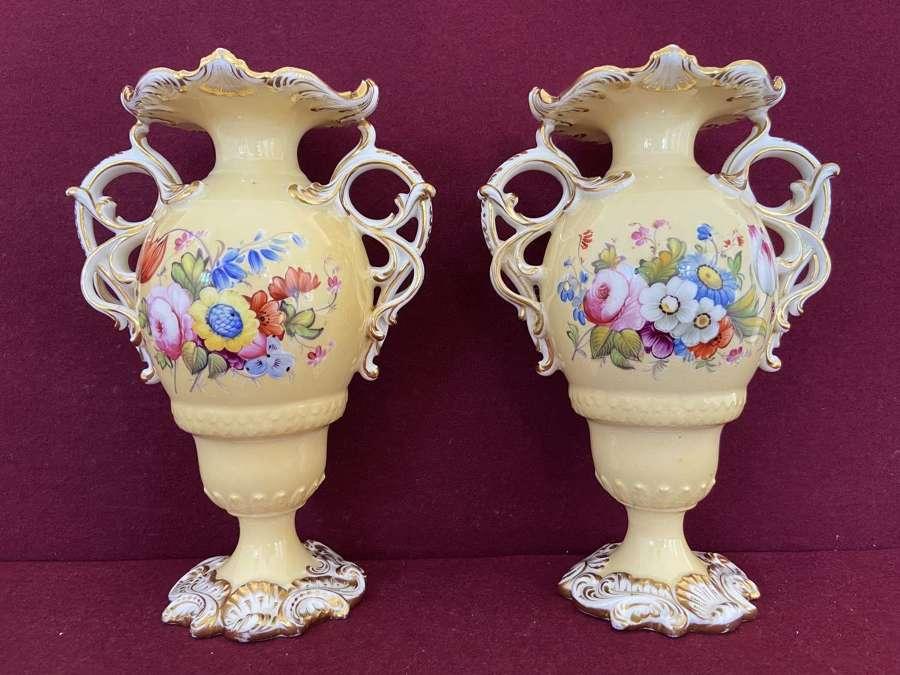 A Pair of Minton 'Flaxman' Vases c.1825-30