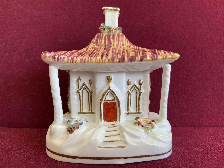 A fine Staffordshire porcelain Pastille Burner c.1840