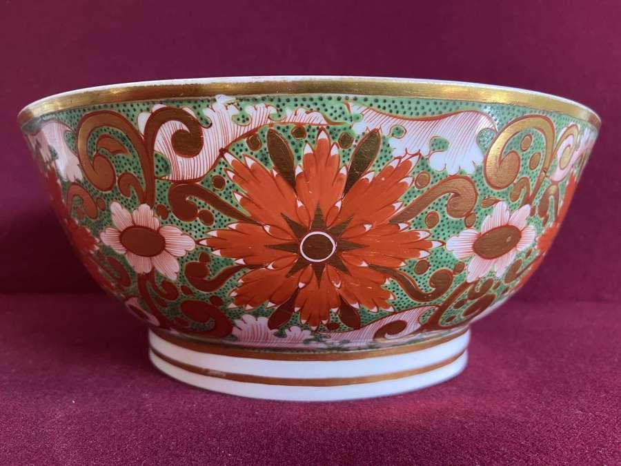 A Minton porcelain punch bowl c.1805-1810