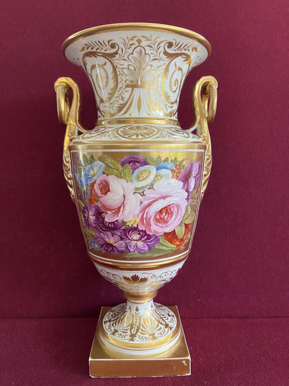A fine Coalport French Empire style vase c.1815
