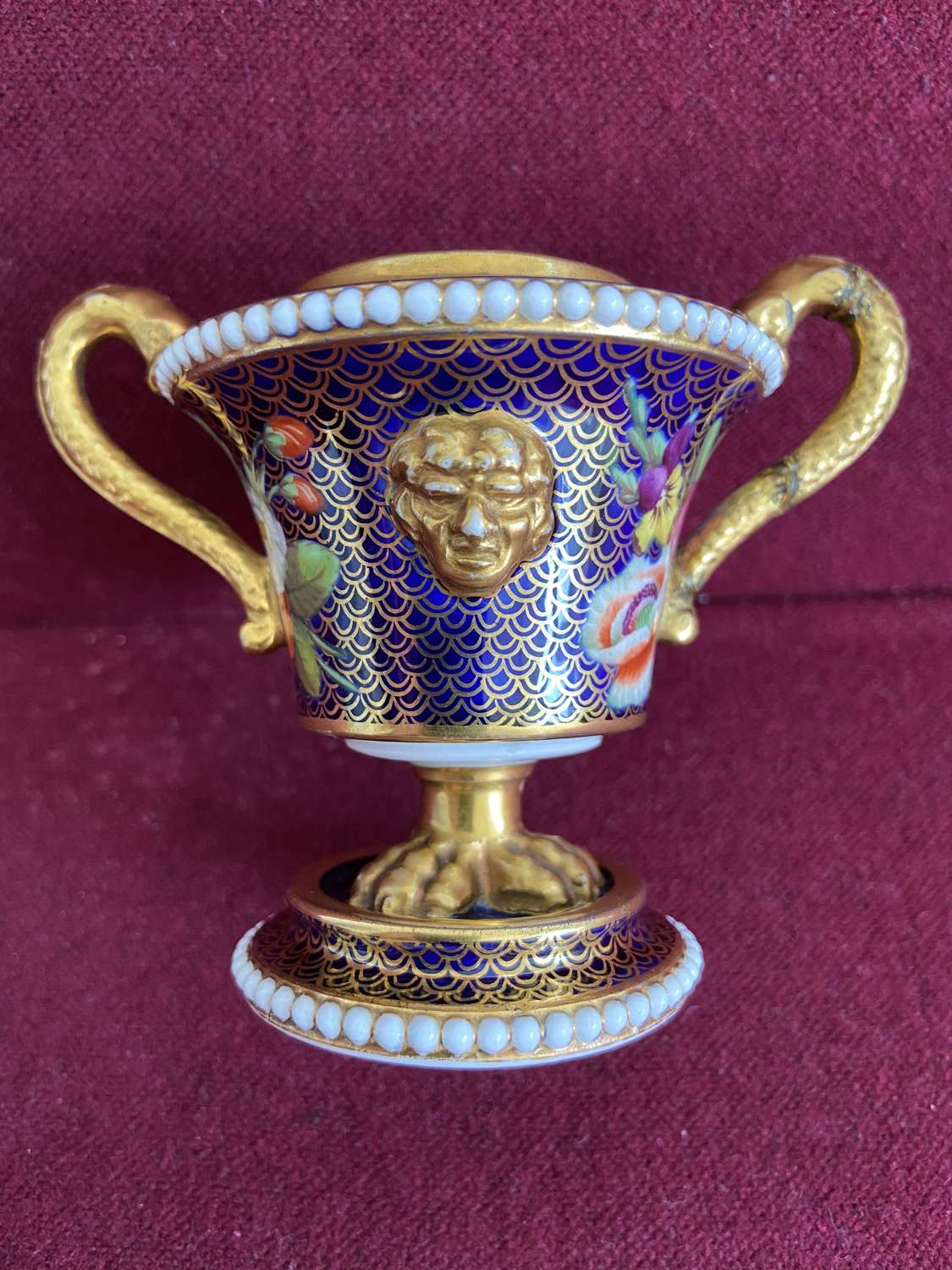 A small Spode beaded Incense Burner c.1820