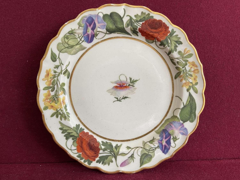 A small Flight & Barr Worcester Plate c. 1795