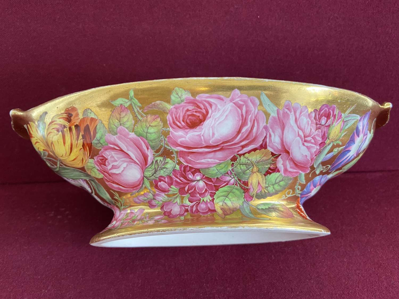 A fine Coalport porcelain dessert comport c.1805
