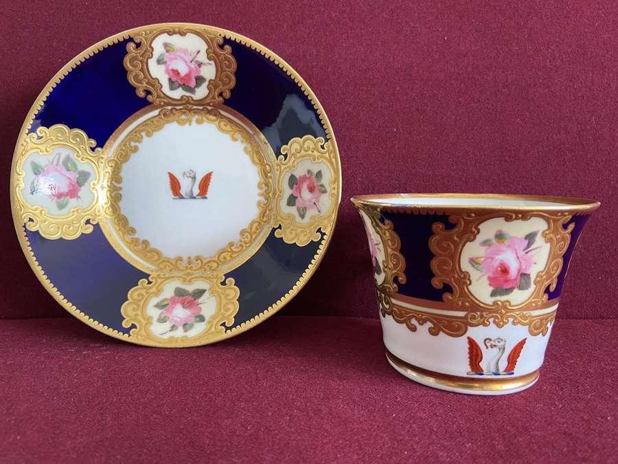 A Chamberlain Worcester Sir John Hullock Breakfast Cup & Saucer