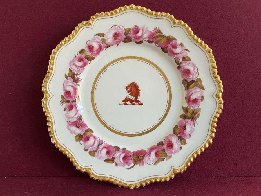 A Flight Barr & Barr Worcester Dinner Plate c.1813-1820