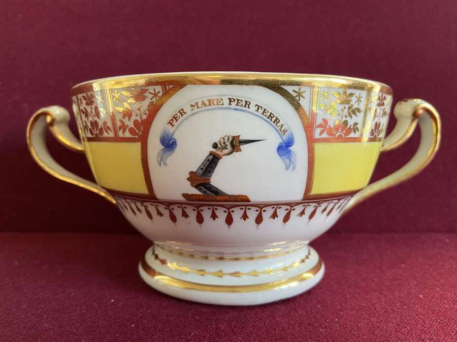 A Chamberlain Worcester Bowl c.1795 with McDonald family crest