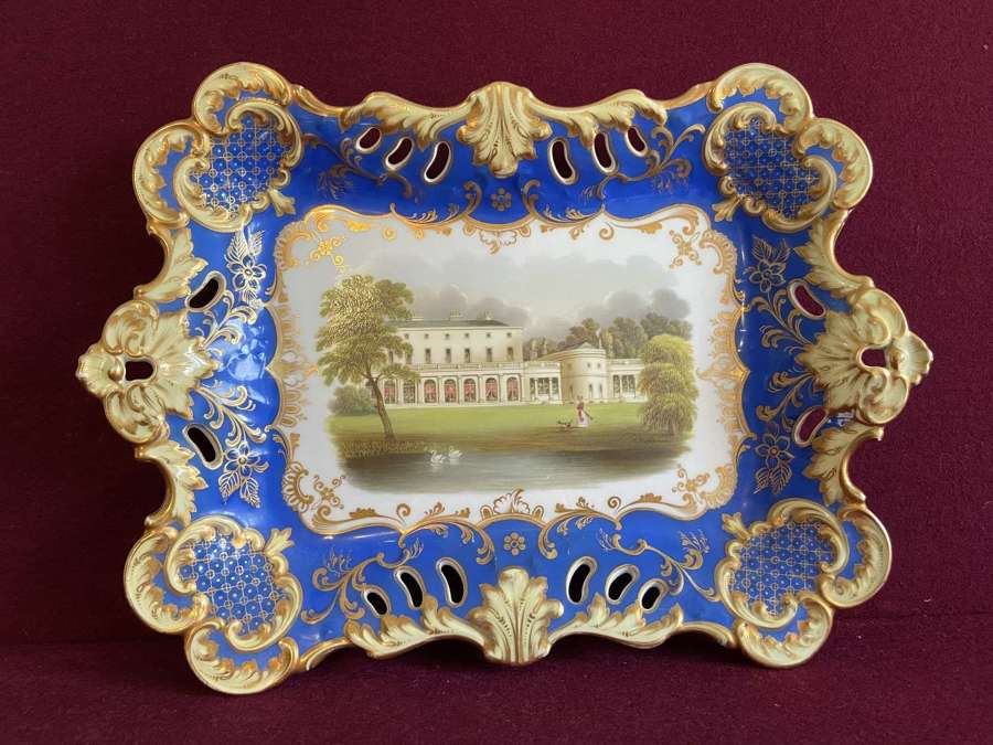 An English Porcelain Tray c.1830 with a view of Frogmore House