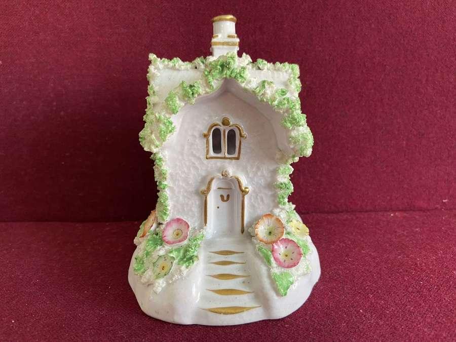 A Staffordshire Porcelain Cottage Pastille Burner c.1835