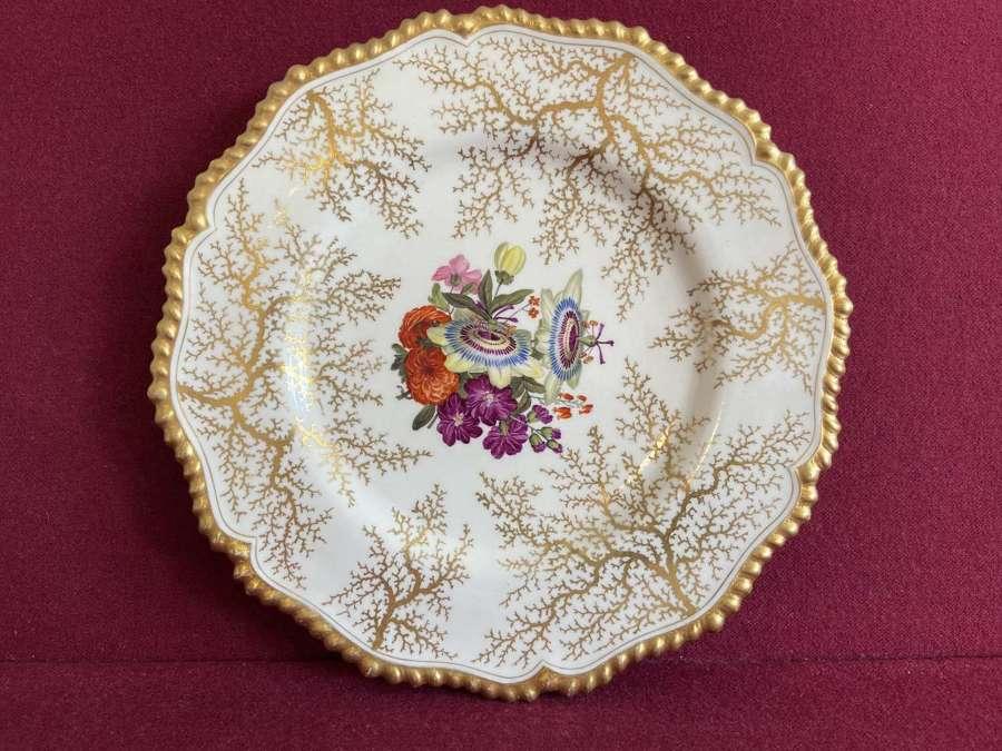 A Flight Barr & Barr Worcester Dessert Plate c.1815-1820