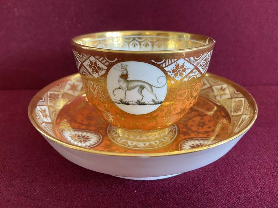 A Chamberlain Worcester Teacup & Saucer c.1800