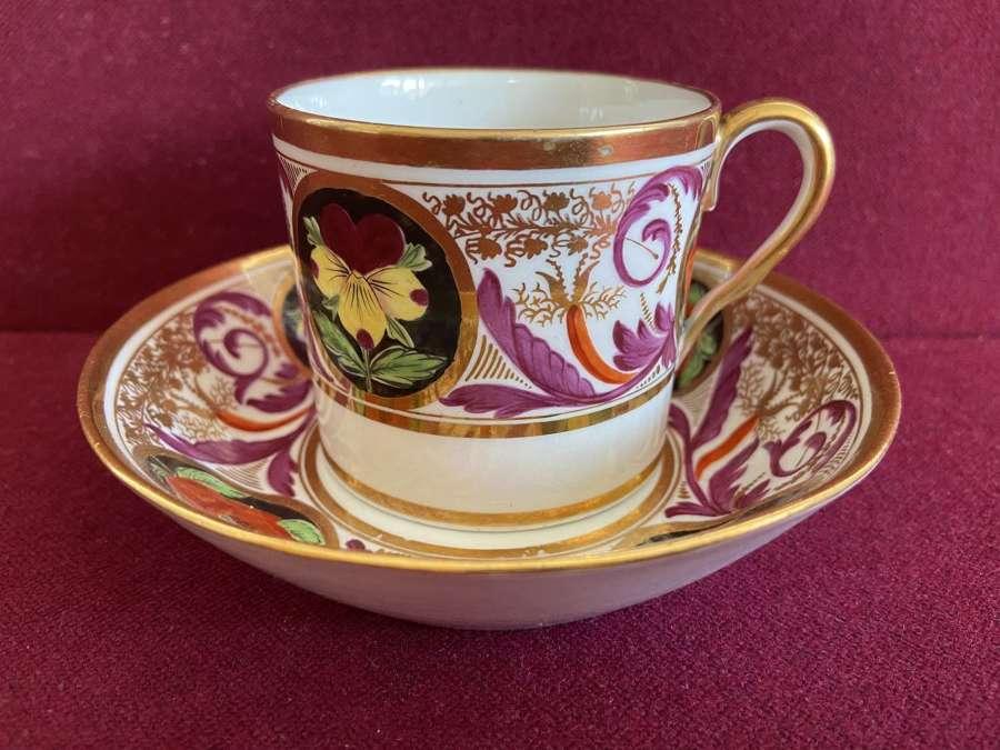 A John Rose Coalport Coffee Can & saucer c.1800