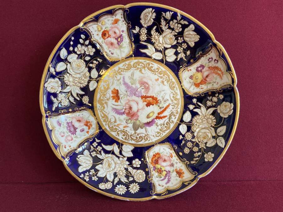 A very large Coalport Centre Plate 'New Embossed' shape c.1815