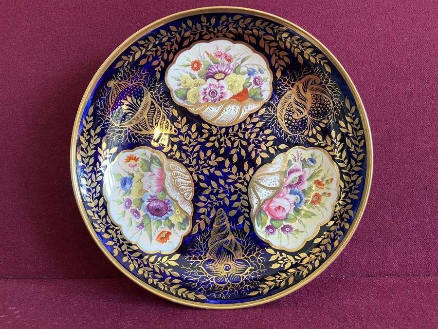 A Minton Porcelain Saucer Dish c. 1815